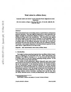 Weak values in collision theory