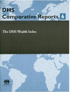 Wealth Index - Measure DHS