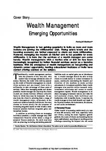 Wealth Management - (SSRN) Papers