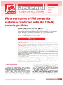 Wear resistance of PM composite materials reinforced ... - CiteSeerX