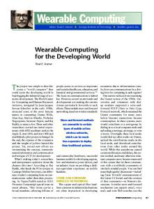 Wearable Computing - IEEE Xplore