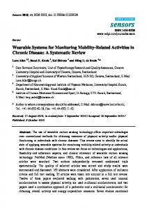 Wearable Systems for Monitoring Mobility-Related Activities in Chronic ...