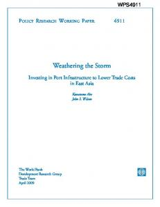 Weathering the Storm - SSRN papers