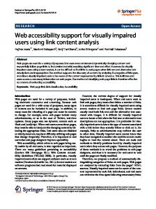 Web accessibility support for visually impaired users ... - Springer Link