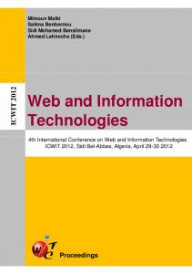 Web and Information Web and Information Technologies