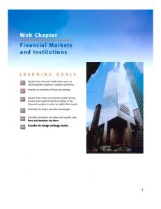 Web Chapter Financial Markets and Institutions