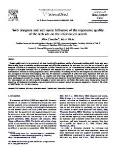 Web designers and web users: Influence of the ... - Semantic Scholar