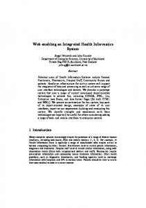 Web-enabling an Integrated Health Informatics System