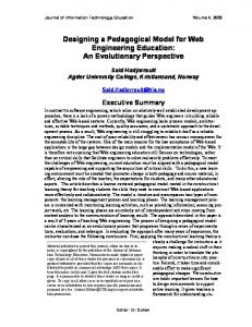 Web Engineering Education: - Journal of Information Technology ...