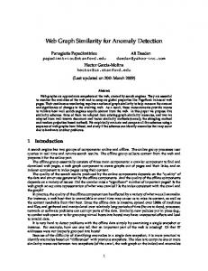 Web Graph Similarity for Anomaly Detection