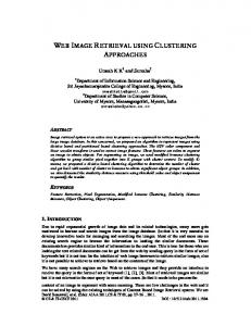 web image retrieval using clustering approaches - aircc