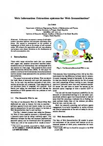 Web Information Extraction Systems for Web Semantization