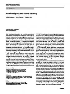 Web intelligence and chance discovery - Semantic Scholar