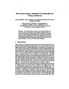 Web Search Query Assistance Functionality for ... - Semantic Scholar
