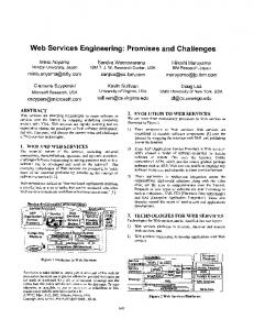 Web Services Engineering: Promises and Challenges