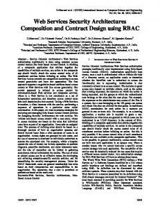 Web Services Security Architectures Composition and Contract ...