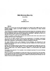 Web Services Security - Know what you are doing