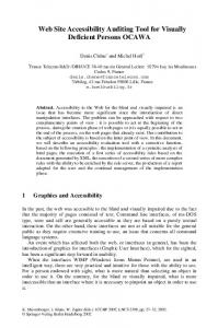 Web Site Accessibility Auditing Tool for Visually ... - Springer Link