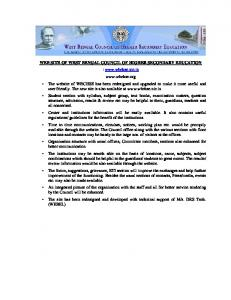 WEB SITE OF WEST BENGAL COUNCIL OF HIGHER SECONDARY ...