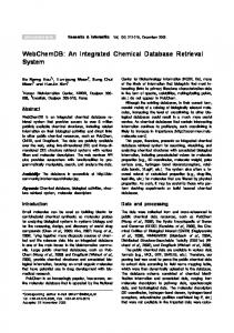 WebChemDB: An Integrated Chemical Database