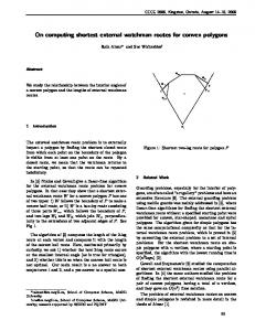 Webpage - Canadian Conference on Computational Geometry