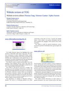 Website reviews TOG - Wiley Online Library