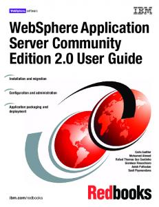 WebSphere Application Server Community Edition 2.0 User Guide