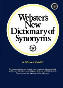 Webster's New Dictionary of Synonyms: A Dictionary of ...