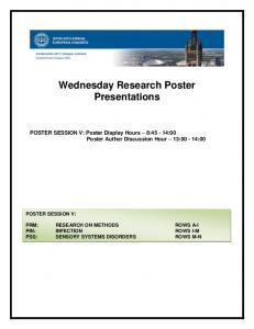 Wednesday Research Poster Presentations