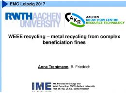 WEEE recycling – metal recycling from complex