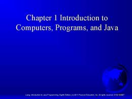 Week 9 Introduction to Java