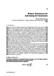 Weibull Distribution for Estimating the Parameters