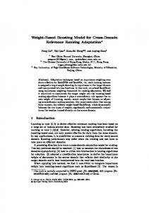Weight-Based Boosting Model for Cross-Domain