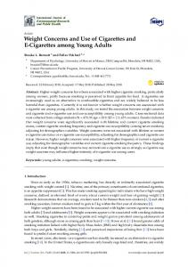 Weight Concerns and Use of Cigarettes and E-Cigarettes ... - MDPI