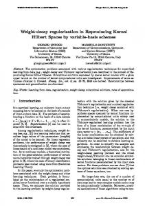 Weight-decay regularization in Reproducing Kernel Hilbert Spaces by