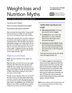 Weight-loss and Nutrition Myths