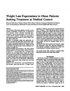 Weight Loss Expectations in Obese Patients ... - Wiley Online Library