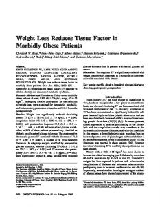 Weight Loss Reduces Tissue Factor in Morbidly ... - Wiley Online Library