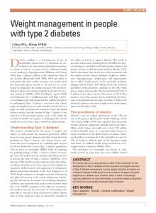 Weight management in people with type 2 diabetes