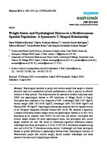 Weight Status and Psychological Distress in a