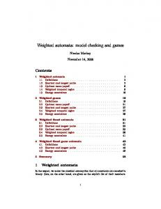 Weighted automata: model checking and games