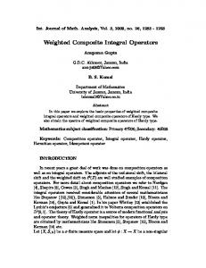 Weighted Composite Integral Operators