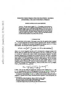 Weighted norm inequalities for fractional maximal operators--a