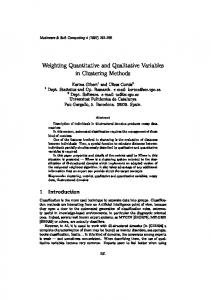 Weighting Quantitative and Qualitative Variables in Clustering Methods