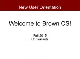 Welcome to Brown CS!