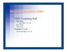 Welcome to CBSE/BME