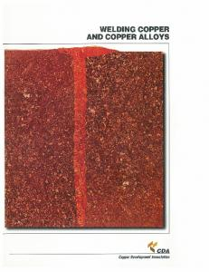 WELDING COPPER AND COPPER ALLOYS