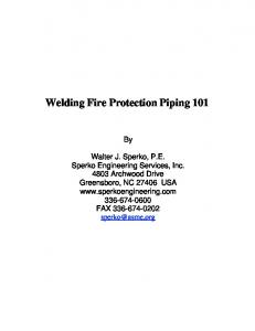 Welding Fire Protection Piping 101 - Tyco Fire Products