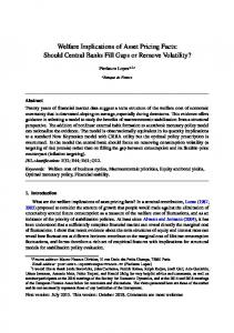 Welfare Implications of Asset Pricing Facts: Should