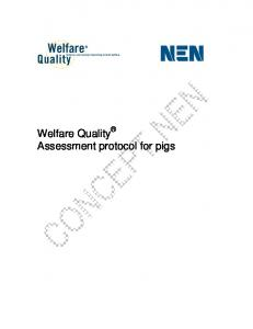 Welfare Quality Assessment protocol for pigs - Welfare Quality Network
